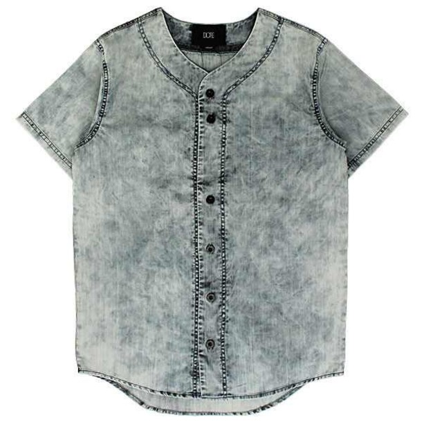 shirt dope denim baseball jersey