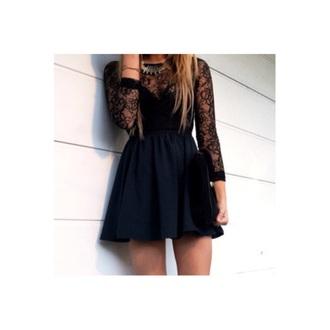 dress black prom dress black prom dress black dress short dress lace dress skater dress style
