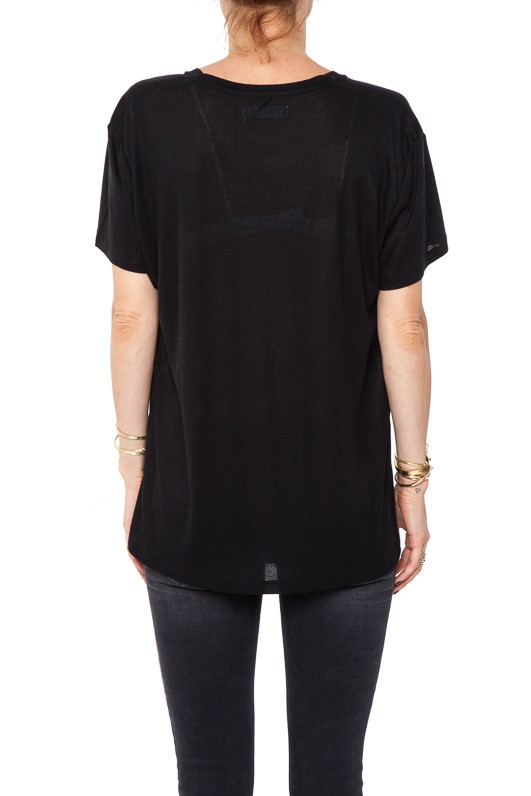 Deep Vneck Tshirt - Black