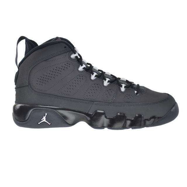 check out 71db3 e7ad0 Air Jordan 9 Retro BG Big Kids  Shoes Anthracite White Black 302359 ...
