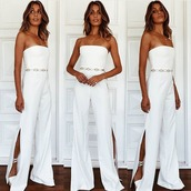 jumpsuit,white jumpsuit