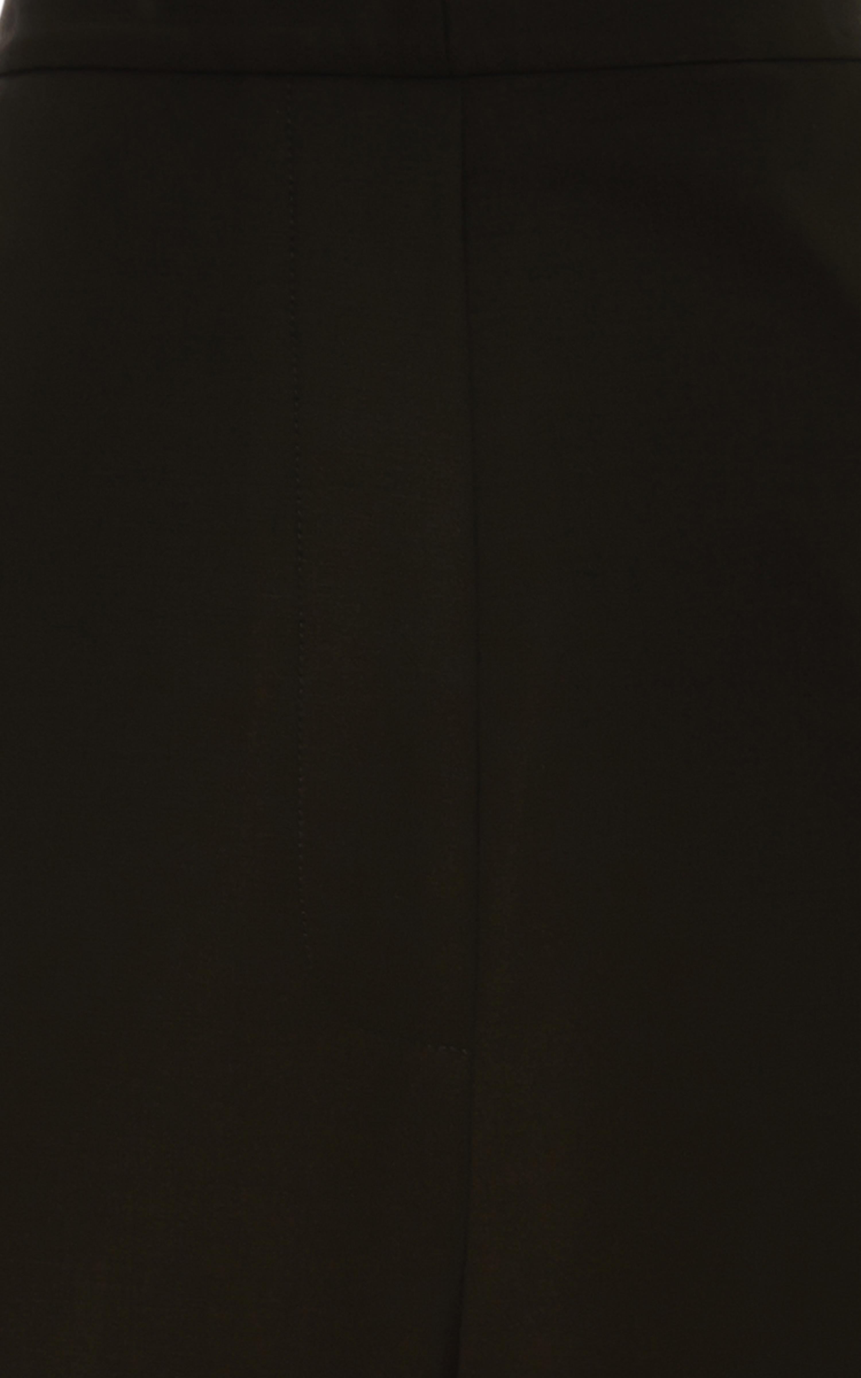 Dewy Wide Leg Crease Front Pant In Black by Ellery - Moda Operandi