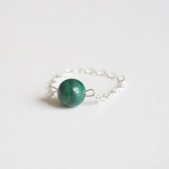jewels summer summer handcraft malachite malachite ring cute ring knuckle ring ring armor ring engagement ring silver ring chain ring simple ring unique ring trendy gift bestfriends ring lovely gift handmade ring