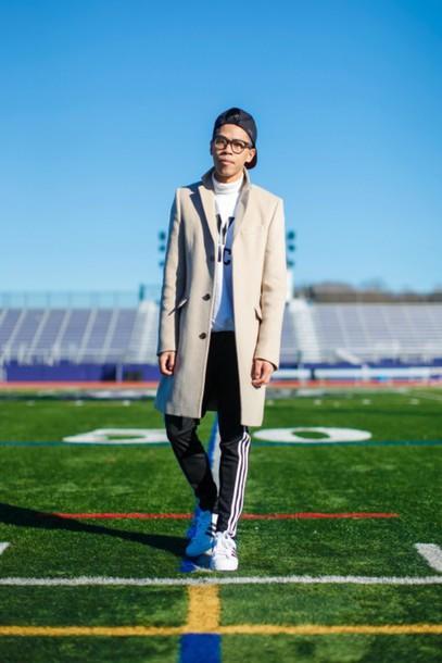 closet freaks blogger joggers menswear mens coat