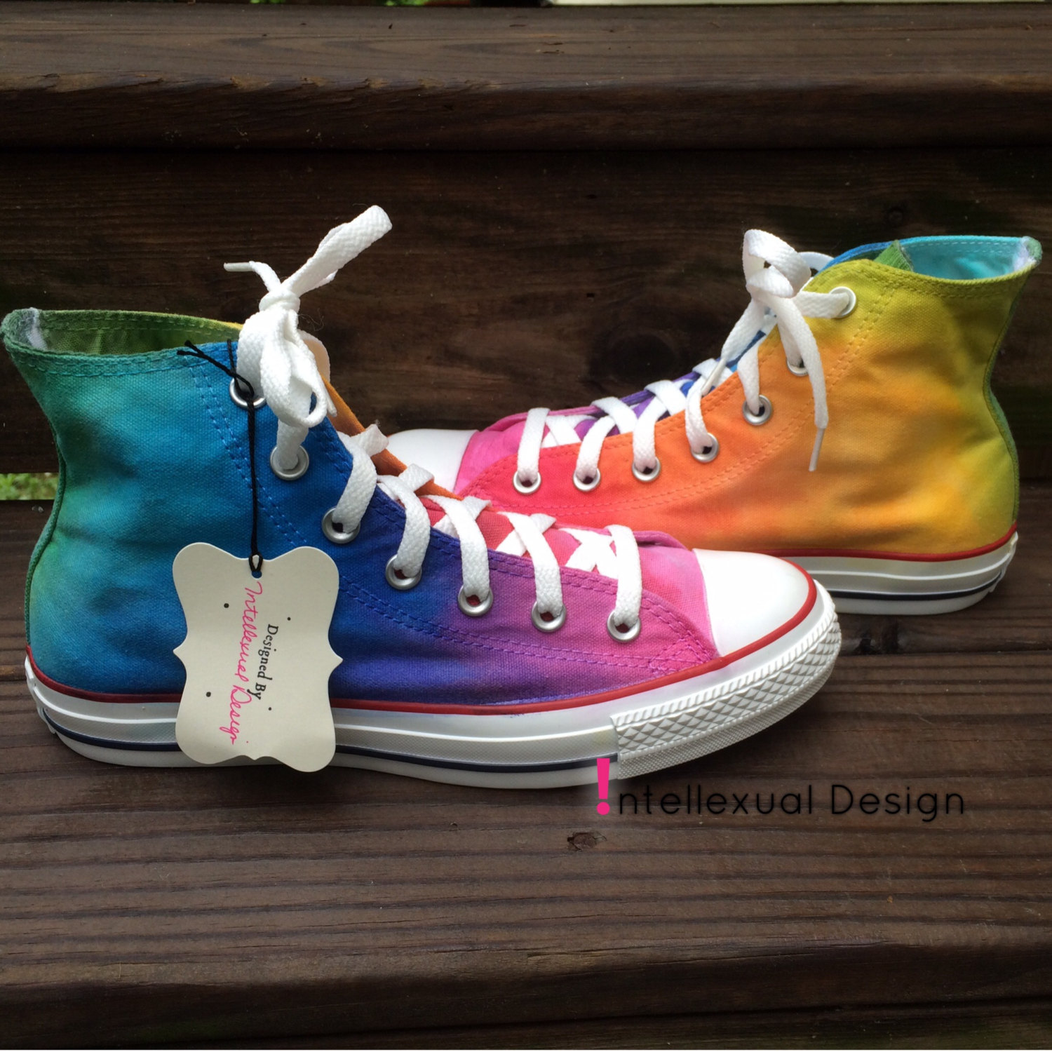 693b688247d5 Tie Dye Converse Rainbow HIGH TOP Custom Shoes