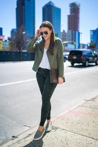 covering bases curvy blogger jacket tank top leggings shoes sunglasses bag jewels louis vuitton bag