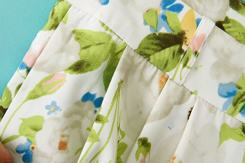 Green Leaves Print Slim Pant - Sheinside.com