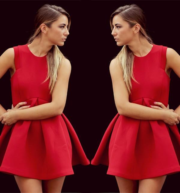 red dress skater dress streetstyle stylemoi wlwgant dress