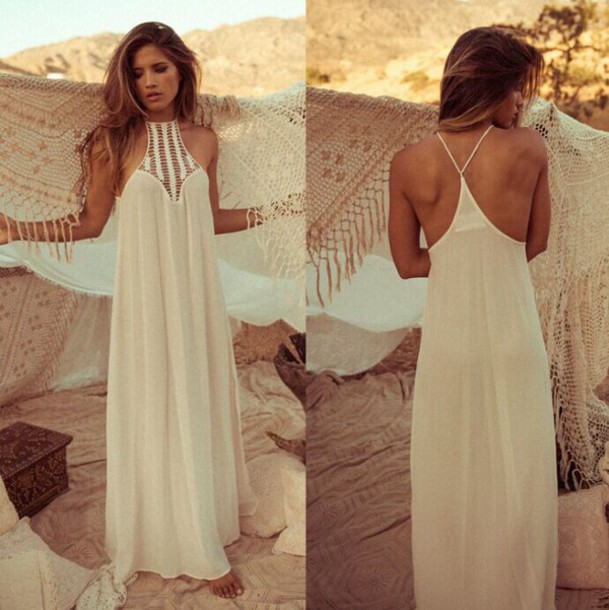 9b137e3466459 dress sexy dress fashion white dress maxi dress boho dress bohemian  bohemian dress trendy vintage backless
