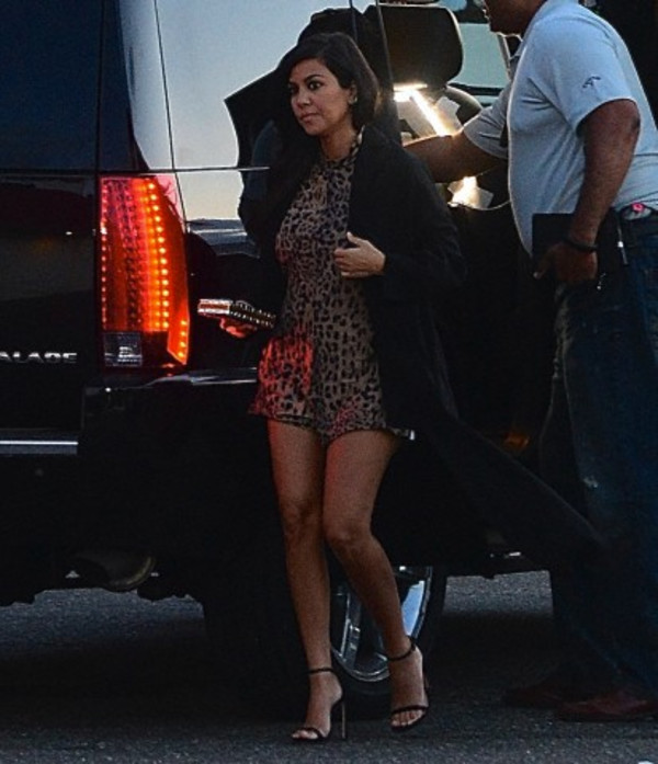 shoes kourtney kardashian leopard print animal print high heels