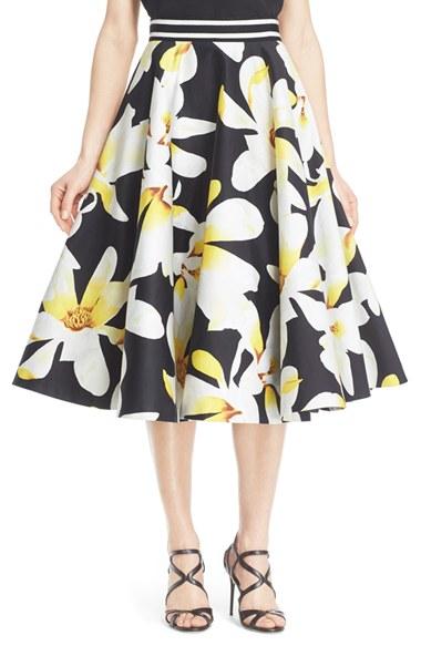 e7359125bea410 Alice Olivia 'Dianna' Floral Print Circle Skirt | Nordstrom