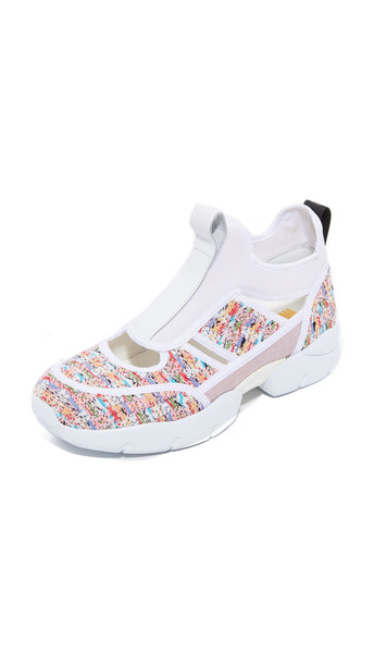 MSGM open light pink light sneakers white pink shoes