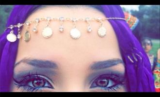 hair accessory gems crystal bohemian cute summer headpiece festival jewelry