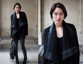 black jacket,shearling,jacket