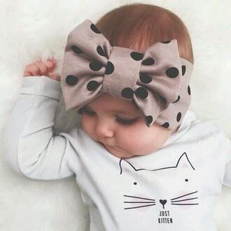 hair accessory bow polka dots child clothing headband