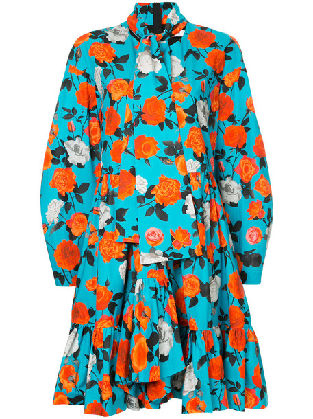 MSGM dress rose women cotton black