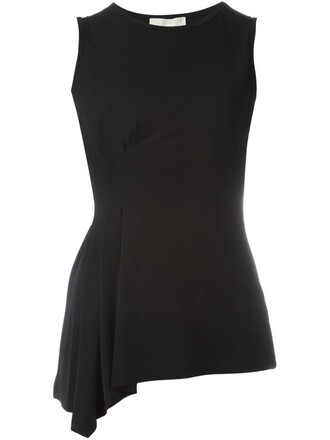 tank top top women spandex black