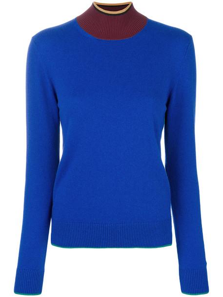 MARNI jumper turtleneck women blue sweater