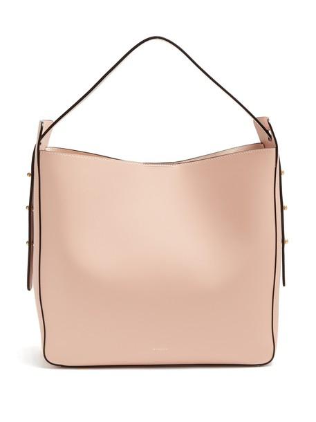 Wandler open leather light pink light pink bag