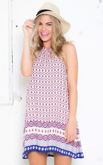 dress print dress beach dress