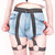 Greek Key Revolt Harness Jeans Shorts – Glamzelle