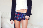 blue shorts,plaid shorts,blue plaid,cute shorts,pyjama shorts