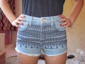 shorts,pants,aztec