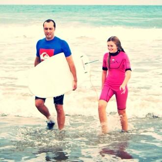 swimwear pink quiksilver roxy blue azul sea menswear swag