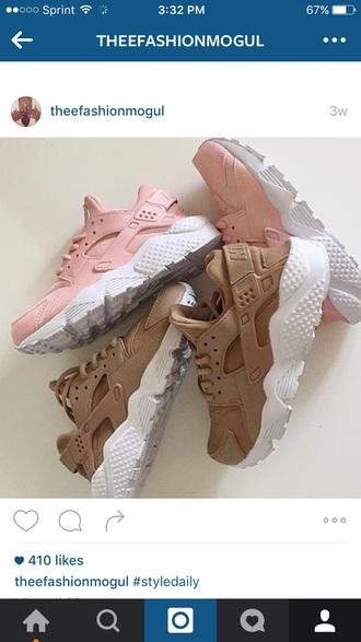 shoes nike hurraches nude nike huarache pink beige white hurraches nike shoes trainers pink huarache rose huarache sneakers brown huarache nike sneakers brown light brown and pink huaraches