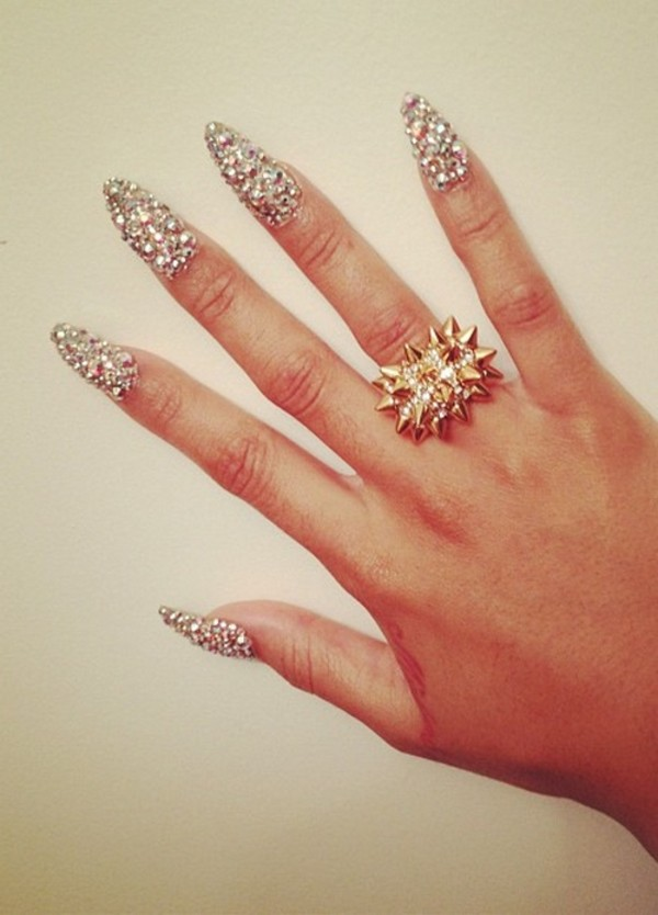 jewels diamonds gold ring spike spikes small diamond ring gold ring