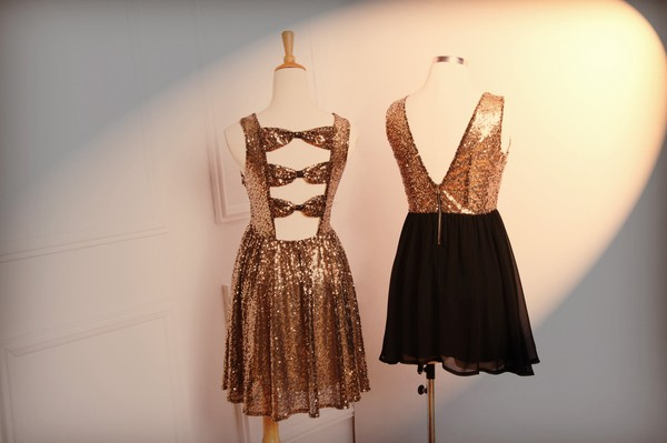 dress romwe gold