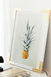 home accessory,frame,beach house,poster,gold,pineapple,wall decor,diy