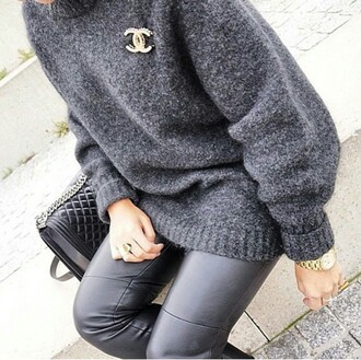 sweater jumper polo sweater grey sweater winter sweater winter swag