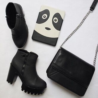 shoes booties black zooshoo fall outfits fashion style cute back to school bootie platforms platform shoes traction sole fahrenheit