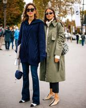 jeans,flare jeans,mules,shoulder bag,cropped jeans,trench coat,oversized coat,sunglasses,earrings,sweater,knitted sweater,turtleneck sweater