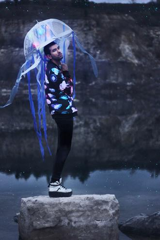 bobby raffin menswear blogger umbrella jacket jellyfish