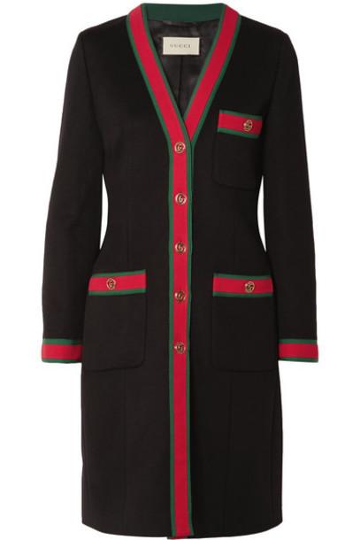 coat wool coat black wool