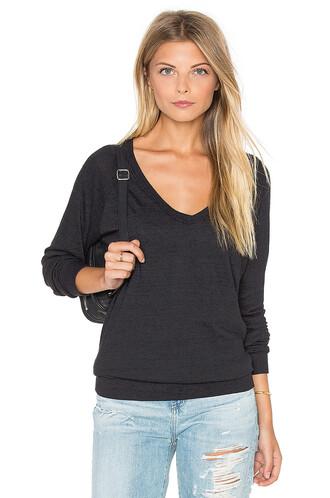 sweatshirt v neck black
