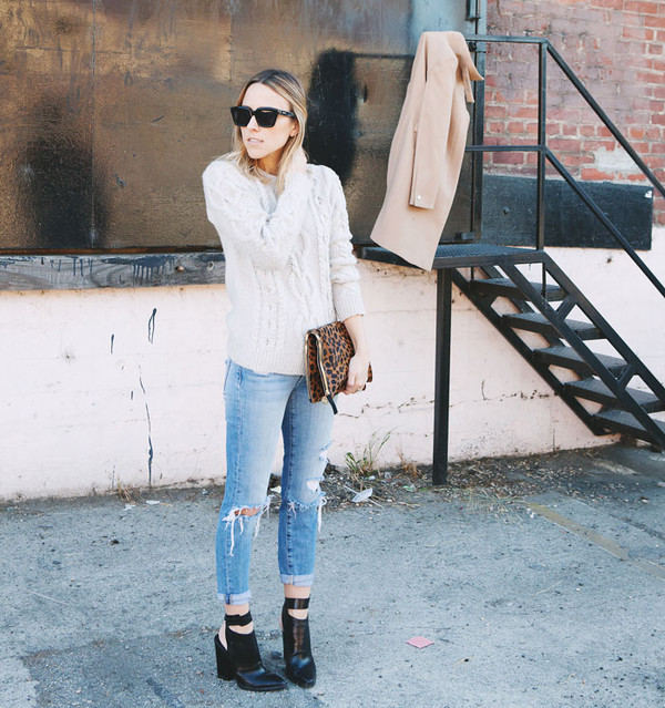 damsel in dior sweater bag coat jeans shoes jewels