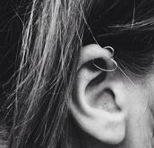 jewels,piercing,heart,silver,earrings,ear,tumblr