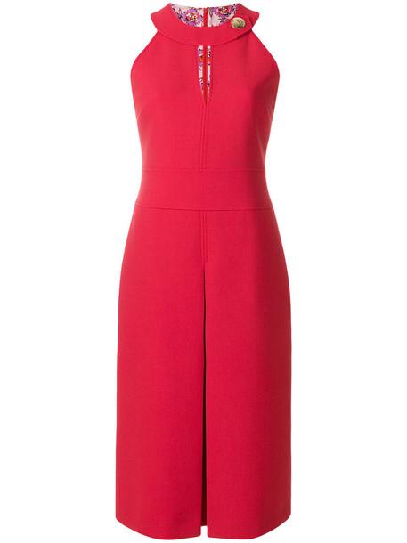 Emilio Pucci dress women spandex wool red