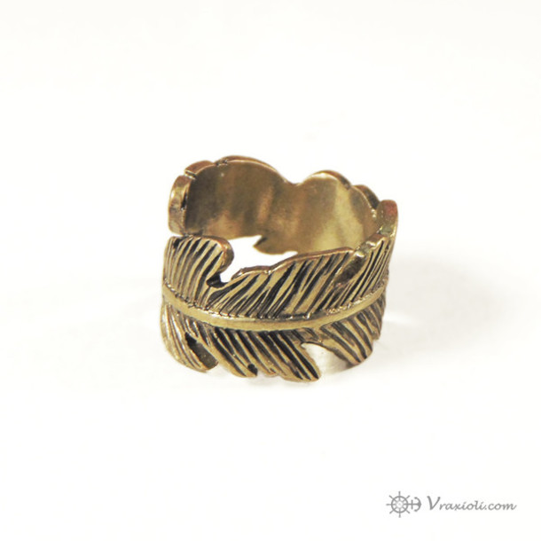 jewels fither ring bohemian rings hipster rings feather rings