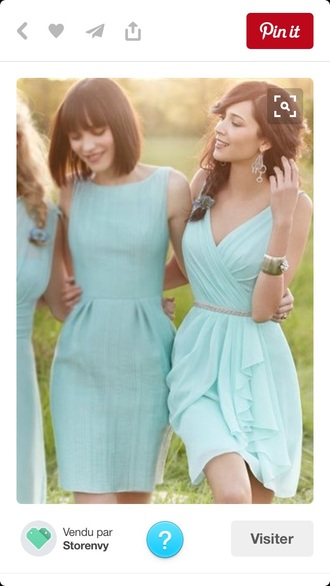 dress aqua turquoise blue mint bridesmaid short dress summer cute dress menthe wedding clothes prom prom dress aqua blue bridesmaids dress summer dress mini dress turquoise party dress cute colorful