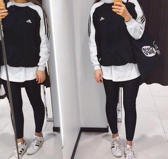 sweater black white sweatshirt women