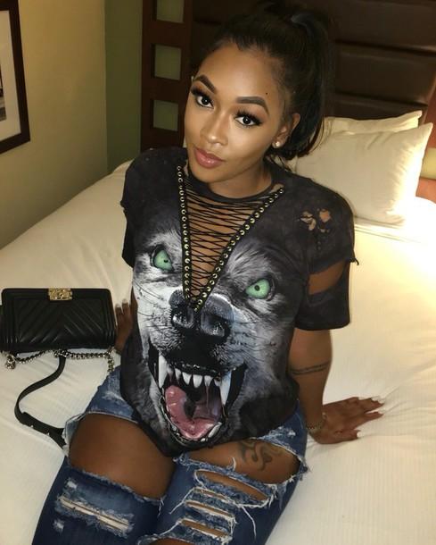 shirt open shirt wolf