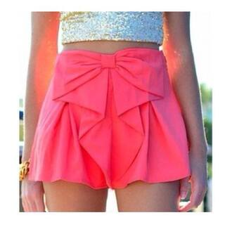 shoes shorts skirt pink bow beautiful