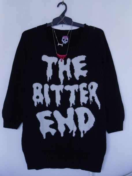 black sweater knit the bitter end sweater black knitted sweater banana fish