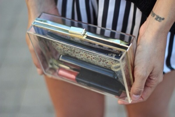 bag clutch transparent  bag
