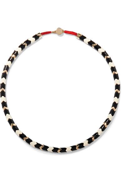 Roxanne Assoulin - Suit Yourself Gold-tone And Enamel Necklace - Black - Suit Yourself Gold-tone And Enamel Necklace
