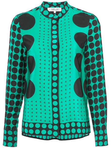 Dvf Diane Von Furstenberg jacket printed jacket women silk green